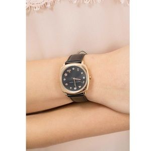 Marc Jacobs rose gold and black mandy watch